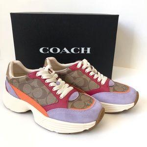 NIB COACH Womens Size 6.5 C152 SIG TECH Sneaker